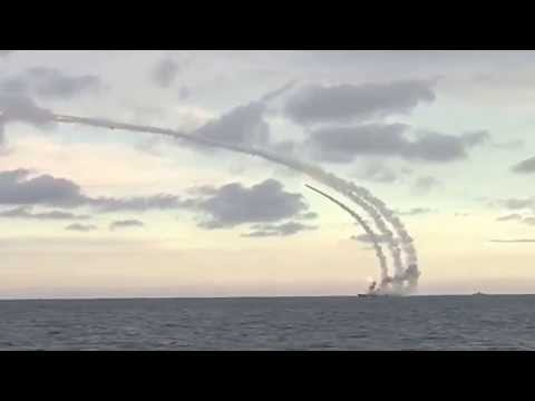 Russian cruising missile fired from ship