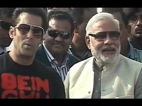Salman Khan photo-op with Gujarat CM Narendra Modi