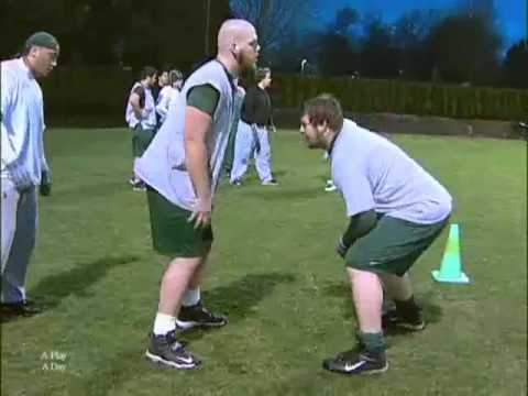 Offensive Line Pass Protection Drills Oregon 1.f4v