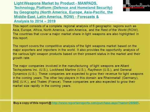 Light Weapons Market Forecasts to 2019