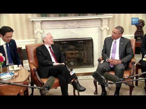 TBT Nguyễn Phú Trọng và TT Obama nói chuyện tại Nhà Trắng
