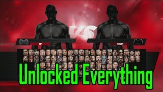 WWE2K14 All Unlockables Superstars, Arenas, Divas