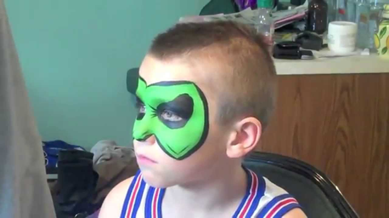 Green lantern mask face paint - photo#8