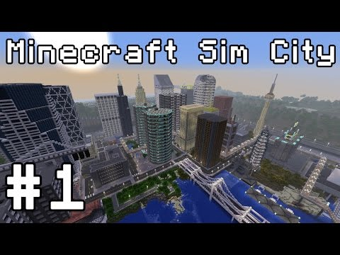 Minecraft Sim City (1.8 snapshot) Simburbia! #1
