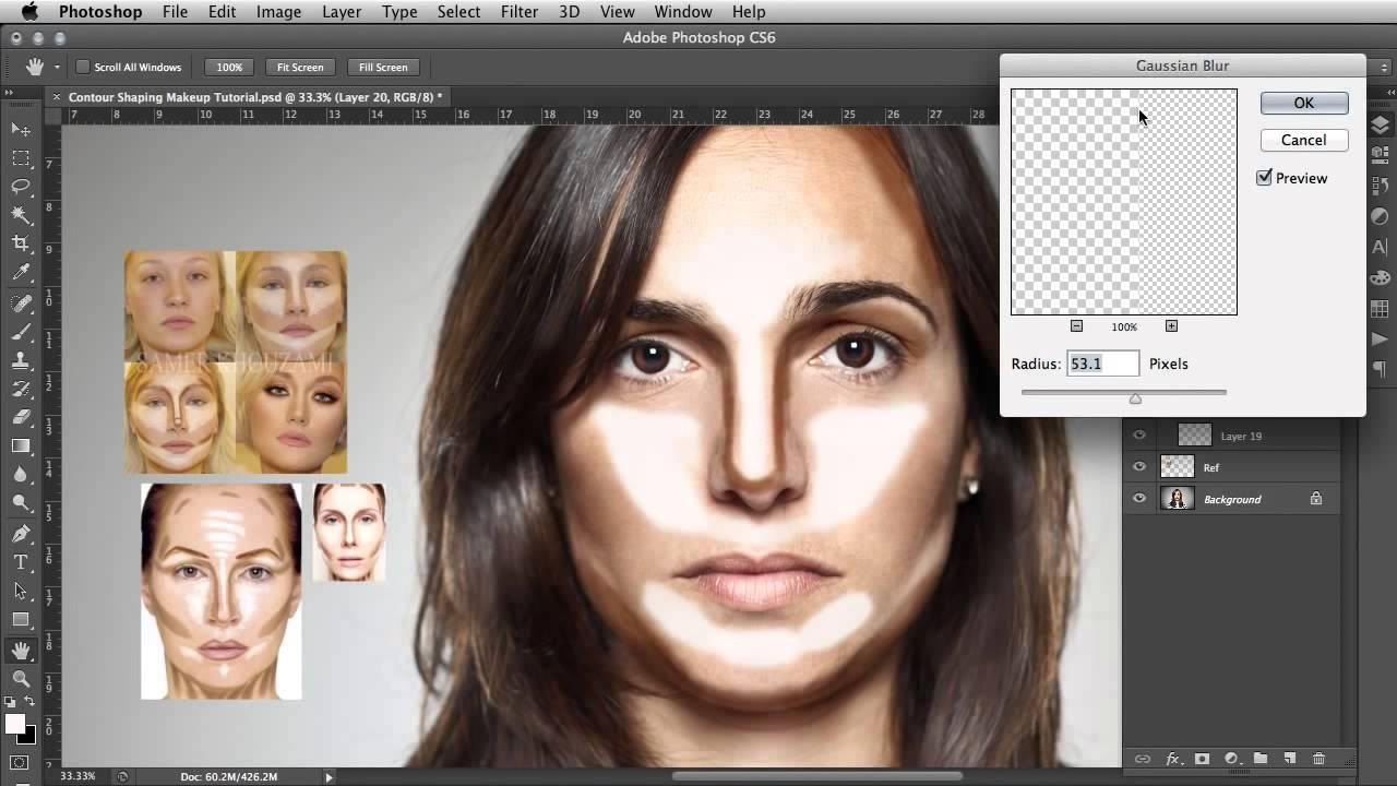 Как сделать эффект лица по фото