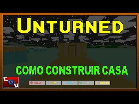 Unturned - Fundação, Pilar, Parede, Teto, Estrutura para porta, Porta - Construindo Casa #01