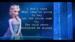 Let It Go (Frozen) Lyrics
