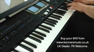 Roland BK9 Demonstration - Drawbar Organ with Blues Style