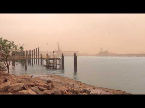 Cyclone Christine approaches - empty Port Hedland harbour