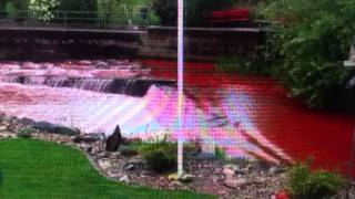 """River Turns """"Blood Red"""" In Switzerland (Apocalyptic Signs"""