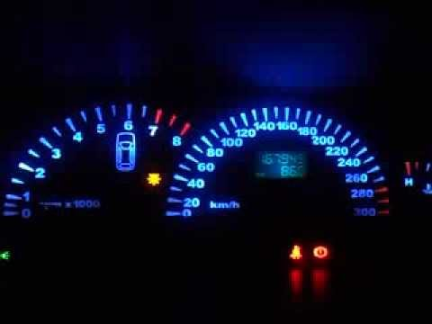 Marea Painel Azul 300km p/h