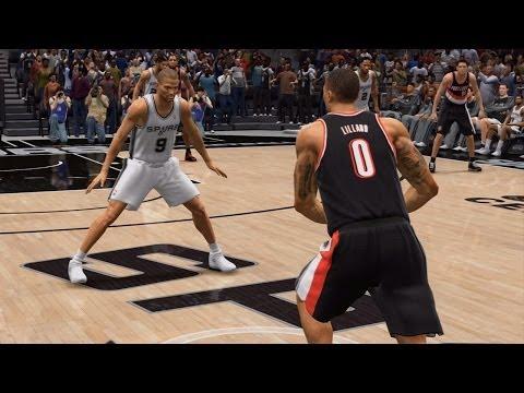 NBA Live 14 Playoffs - Portland Trail Blazers vs San Antonio Spurs - Game 1 - Halftime Show - HD