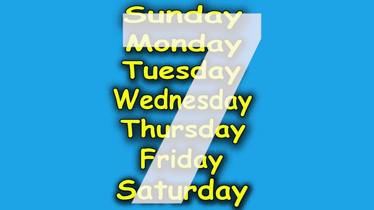 Days of the Week Song - 7 Days of the Week - Children's ...