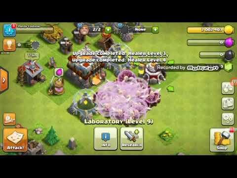 Healer & wizard VS Canon Base | COC epic attack | War attack