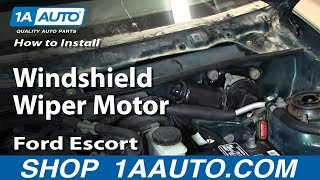 How To Install Replace Windshield Wiper Motor 1998-03 Ford