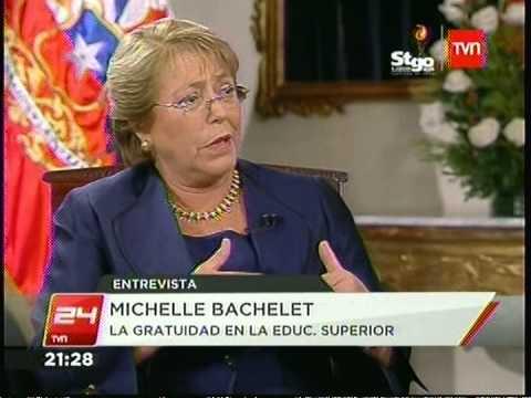 MICHELLE BACHELET DA SU PRIMERA ENTREVISTA COMO PRESIDENTA DE CHILE 24HORAS TVN 14 03 2014