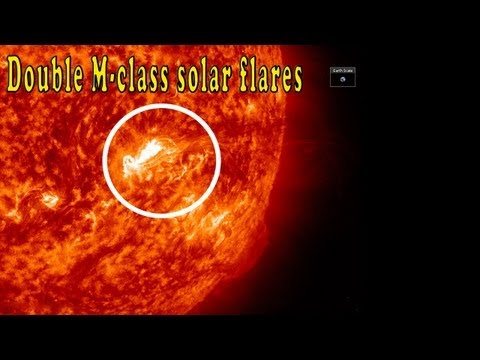 Double M-class solar flares + a CME might be heading to Earth (Aug 17, 2013)