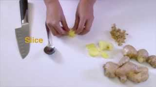 How to julienne ginger