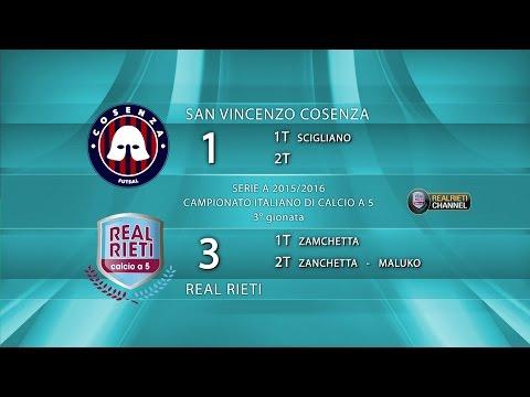 Serie A, San Vincenzo CS-Real Rieti 1-3 (04/10/15)