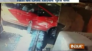 CCTV footage: Speedy car drives into restaurant in Ranchi