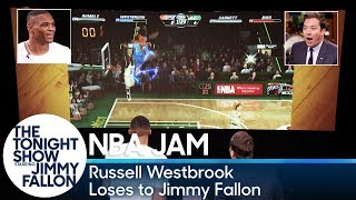Russell Westbrook Loses to Jimmy Fallon at 'NBA Jam'