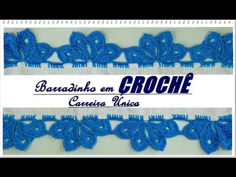 BARRADO EM CROCHÊ -CARREIRA ÚNICA