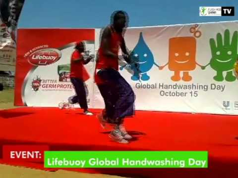 Flash Mob Ghana @ Lifebuoy Soap Global Handwashing Day in Tema