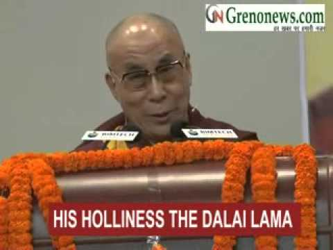 HIS HOLLINESS THE DALAI LAMA ADRESSING PUBLIC IN GREATER NOIDA ON SUCCESS AND HAPPPINESS DALAI LAMA