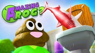 NEW RED MEGALODON GETS FLUSHED! - Amazing Frog Gameplay (New Amazing Frog Update)