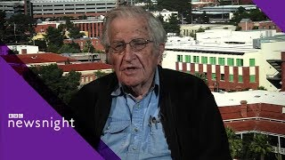 Noam Chomsky: 'Trump is the defender stabbing you in the back' - BBC Newsnight