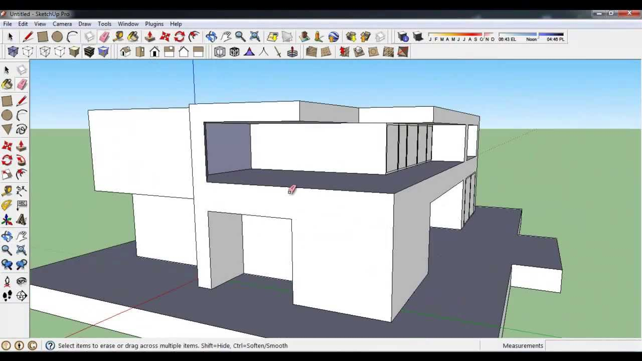 How to make modern house in google sketchup youtube for Modern house design sketchup
