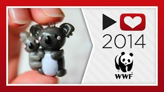 Project for Awesome 2014: WWF | Koala Bears Polymer Clay Tutorial