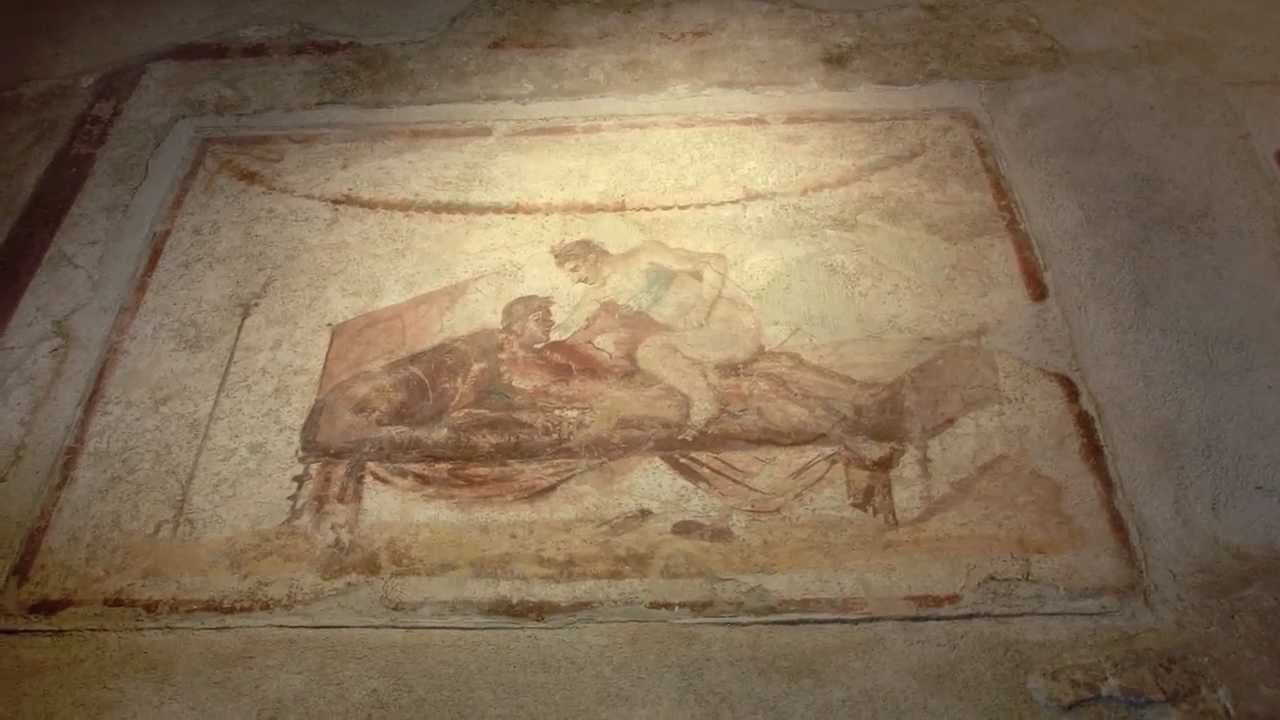 The longest line for pompeii roman brothel sexy murals for Ancient roman mural