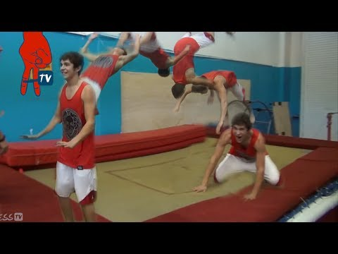 Austin Mahone - Austin Does his First Backflip - Mahomie Madness Ep 19