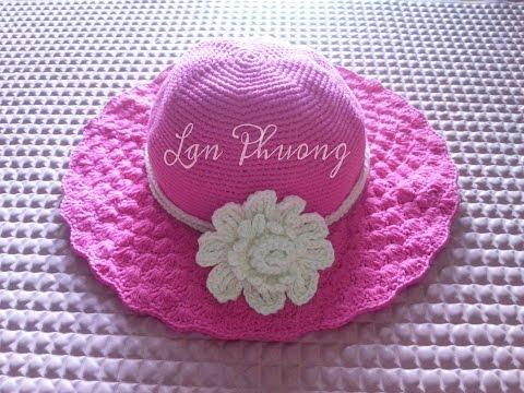 [Crochet Hat] Hướng dẫn móc mũ rộng vành