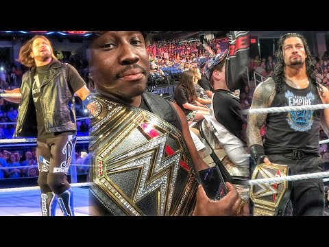QJB'S WWE RAW RINGSIDE EXPERIENCE! - Opening VIP Ringsider Package ft Roman Reigns & AJ Styles