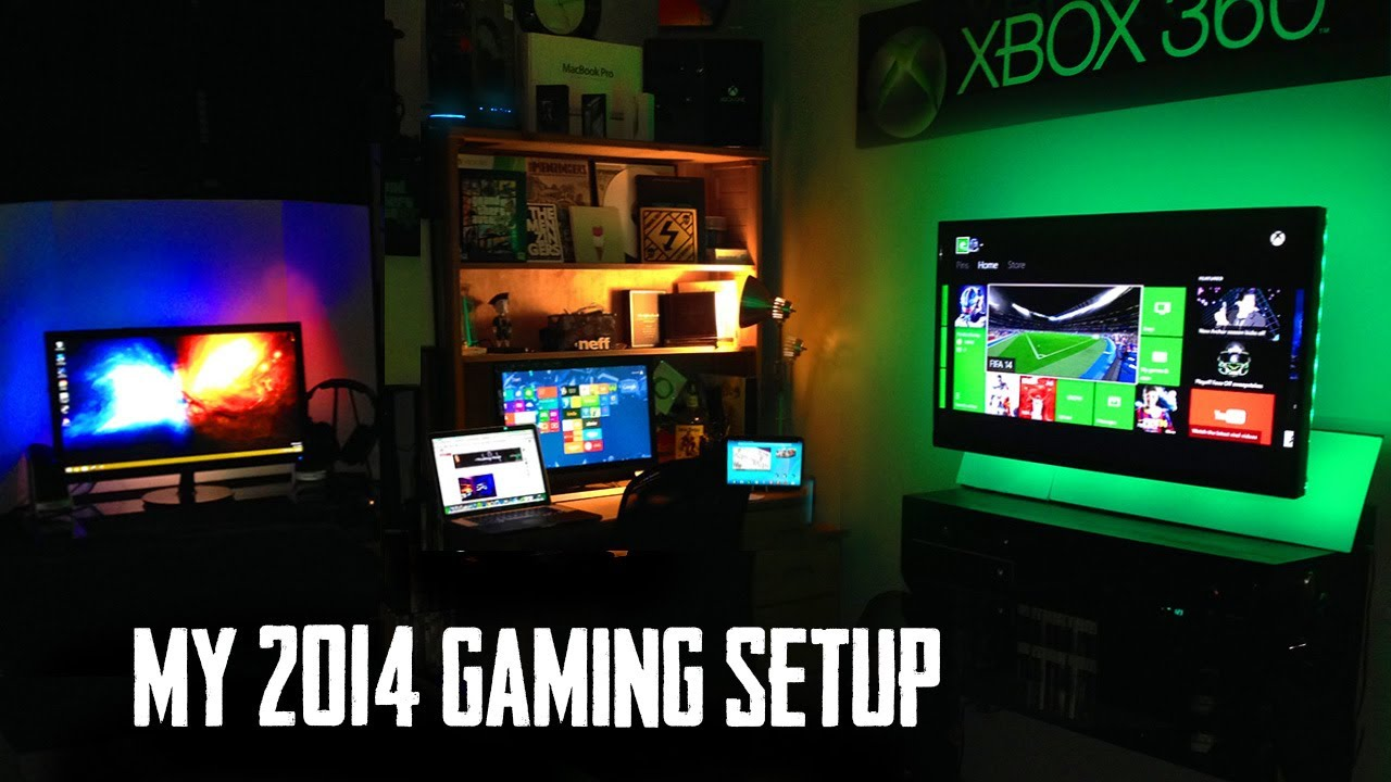 my ultimate gaming setup room tour youtube. Black Bedroom Furniture Sets. Home Design Ideas