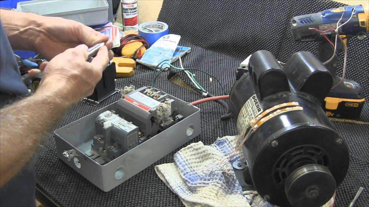 Change a 110 volt-220 volt coil on a furnas size 1 Motor ...