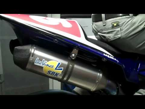 LeoVince for Yamaha MRS Team - SBK Corsa Factory Full System Dynamic Test on Yamaha YZF 1000 R1