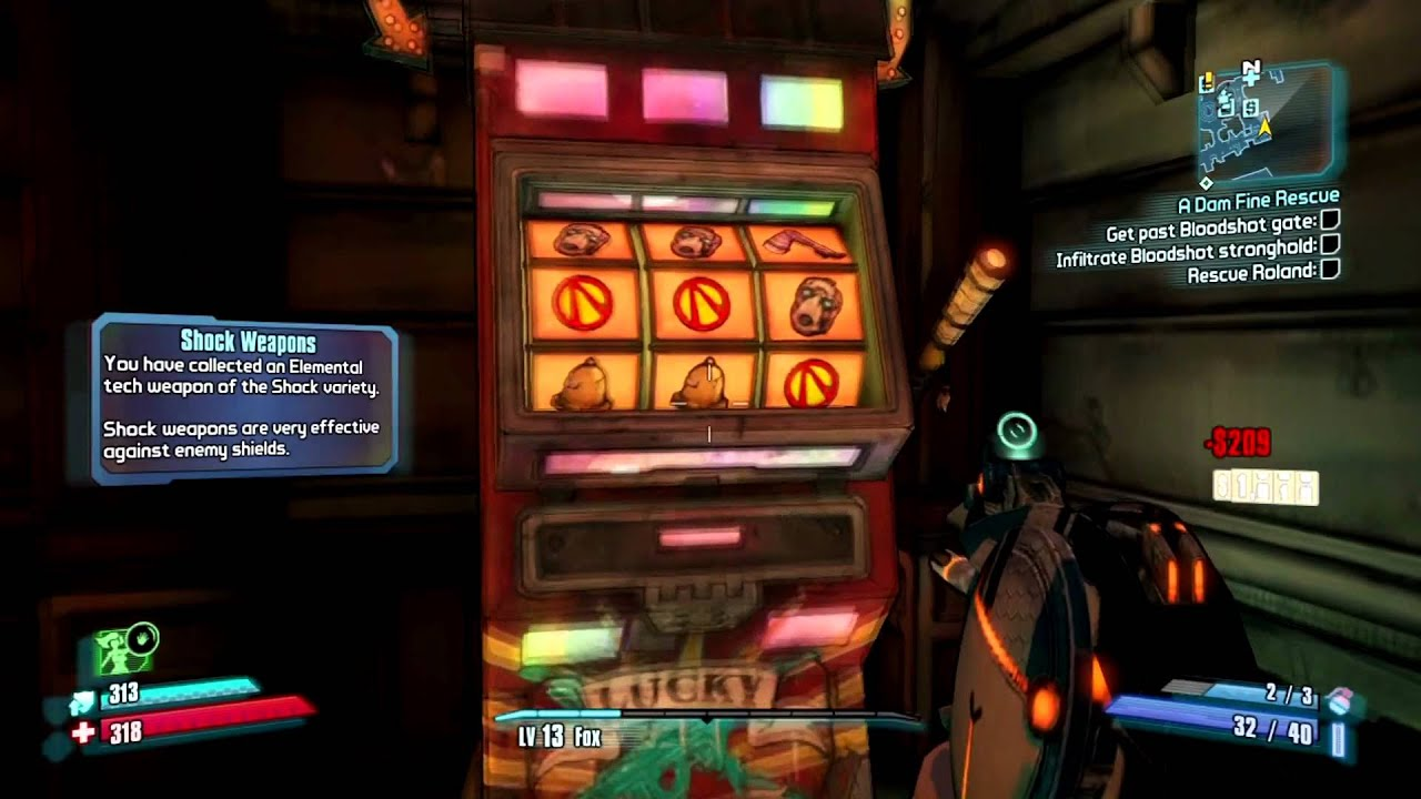 slot machines on borderlands 2