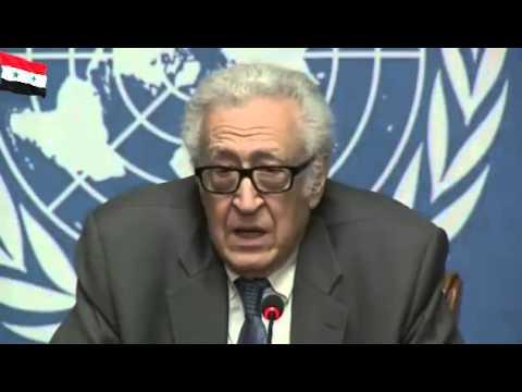 Syrie  La Conférence de presse à Genève  Mr  Lakhdar Brahimi 25 January 2014