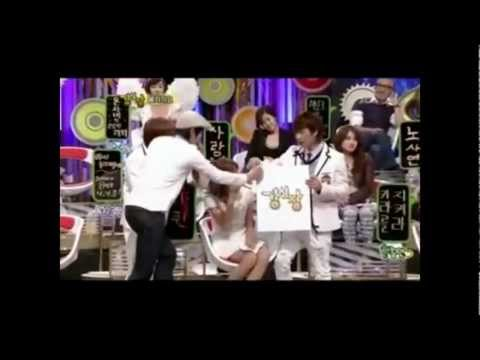Yoona(SNSD) & Eunhyuk(Super Junior) Moments - StrongHeart Episode 4