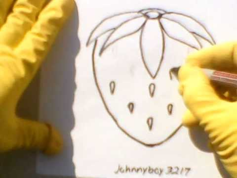 How To Draw A Strawberry step by step with pencil marker easy sketch for beginners simple