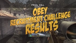 Obey Recruitment Challenge Results! [3OB]
