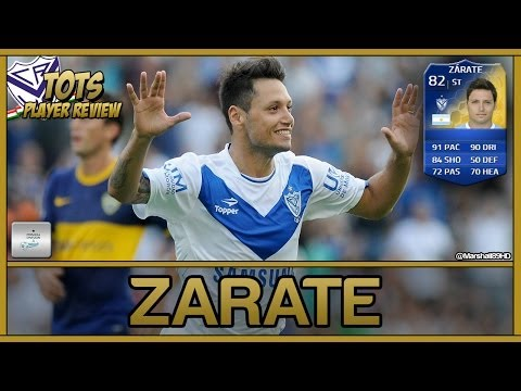 FIFA 14 UT - TOTS Zarate || Team Of The Season Ultimate Team 82 Player Review + In Game Stats