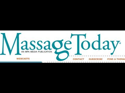 Gabrielle Lindsley from www.massagetoday.com - Live Interview