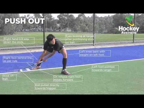 Hockey Australia Skill Video - Corner Push Out