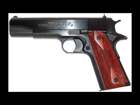 Colt 1911 gunfire sound effect