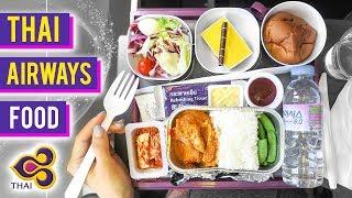 Thai Airplane Food ► Pork Curry on Thai Airways from ICN to BKK to HKT