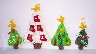 Rainbow Loom Mini Star Christmas Tree Topper Ornament Charm